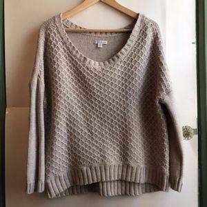 AMERICAN EAGLE Tan Nude Beige Textured Sweater